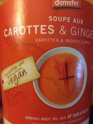 Soupe Aux Carottes & Gingembre