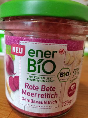 Rote Beete Meerrettich Gemüseaufstrich