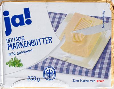 Deutsche Markenbutter mildgesäuert