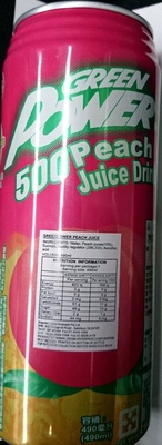Green power 500 Peach Juice Drink