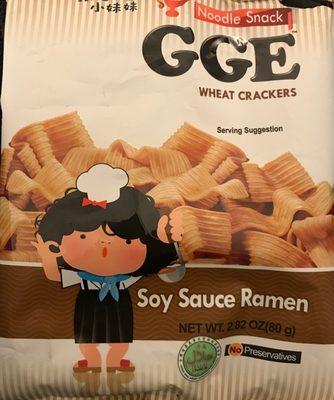 Wheat crackers soy sauce ramen