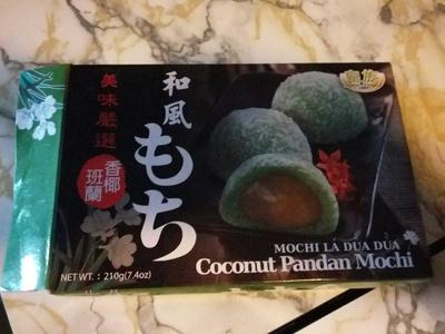 Coconut Pandan Mochi