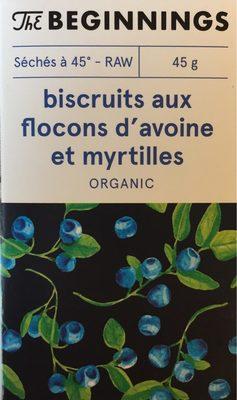 Biscruits aux flocons d'avoine et myrtilles