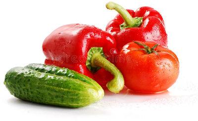 Cucumber, Tomato & Bell pepper