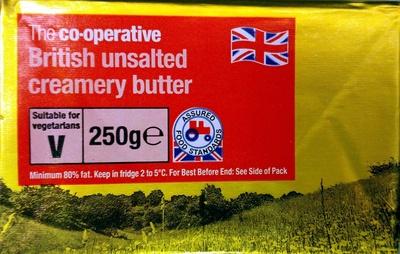 British Unsalted Creamery Butter