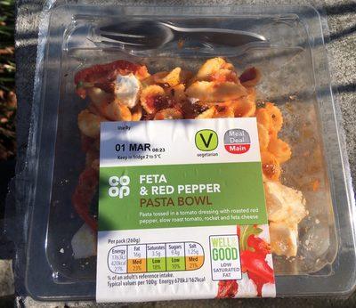 Feta & Red Pepper Pasta Bowl