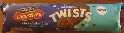 McVitie's Digestives Twists Chocolate Chip & Coconut