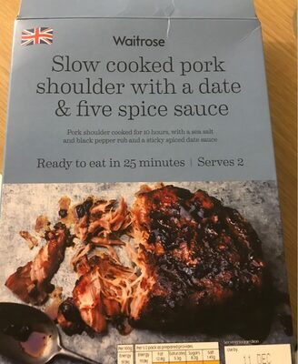 Waitrose Slow Cooked Pork Shoulder - Date and spice sauce
