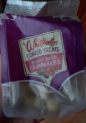 Yogurt coated granberries