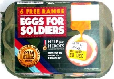 6 free range Eggs for Soldiers
