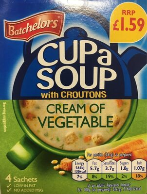 CuPaSOUP cream of vegetable with croutons