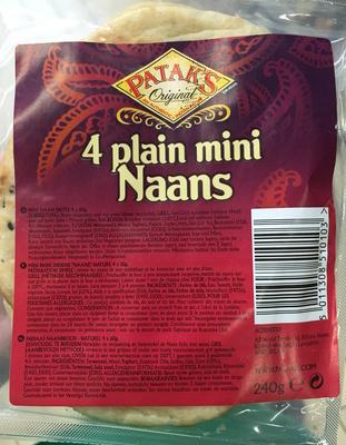 4 plain mini Naans