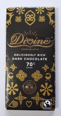 Deliciously rich dark chocolate 70% cocoa
