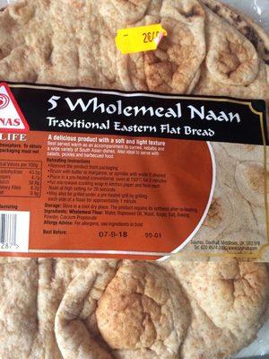Sounas Wholemeal Naan Bread