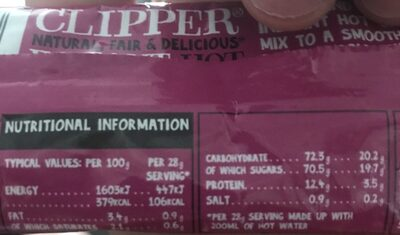 Clipper: Drinking Chocolate Sachets - 28G
