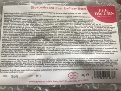 Strawberries and cream Ice-cream Mochi