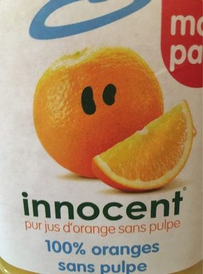 Innocent pur jus d'orange pressé sans pulpe