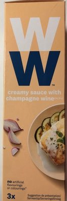 Creamy sauce with champagne