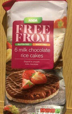 6 milk chocolate rice cakes