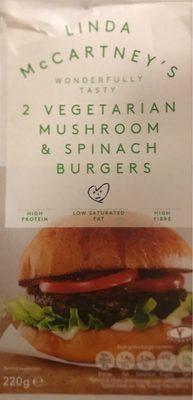 Vegetarian mushroom & spinach burgers