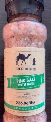 Pink salt with basil