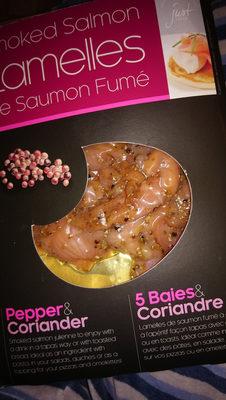 Lamelles de Saumon Fumé 5 baies & Coriandre