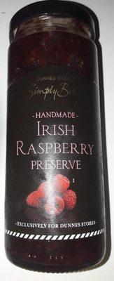 Handmade irish raspberry preserve