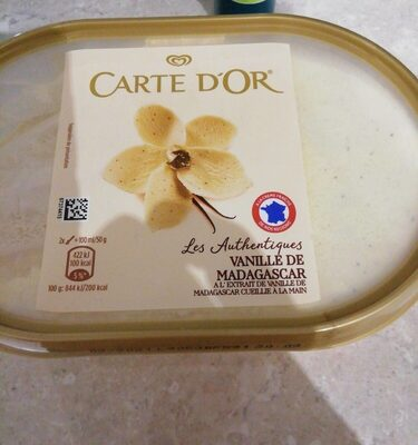 Glace carte d'Or vanille