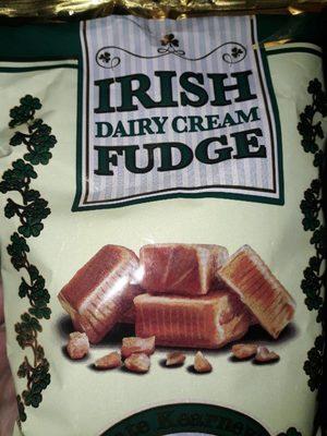 Irish dairy cream fudge