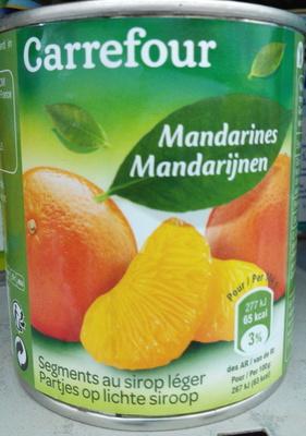 Mandarines au sirop léger