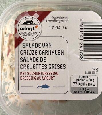 Salade de crevettes grise