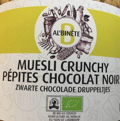Muesli crunchy pépite chocolat noir
