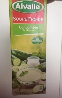 Soupe froide de concombre & menthe