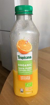 Organic orange with juicy bits
