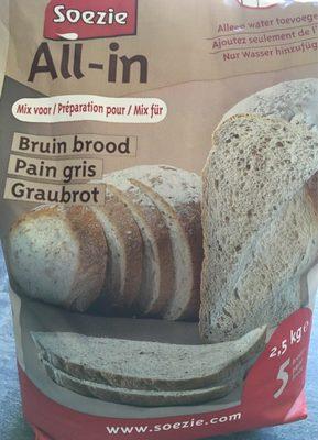 Préparation pour pain gris