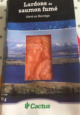Lardons de saumon fumé élevé en Norvège