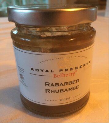 Royal Preserve rabarber rhubarbe