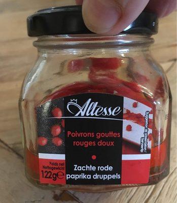 Poivrons gouttes rouge soux
