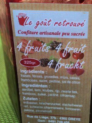 Confiture 4 fruits