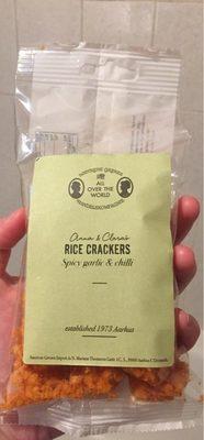 Rice Crackers Spicy garlic and chili