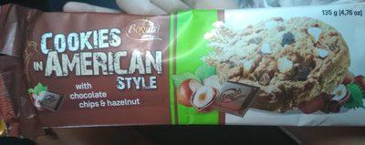 Bogutti American Cookies With Chocolate Chips n Hazelnut