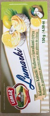 Boules gaufrettes au coco et citron