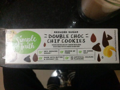 reduced sugar double choc chip cookies