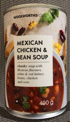 Mexican chicken & bean soup