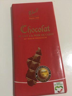 Chocolat au lait à la noix de cajou
