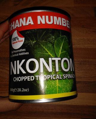 Nkontomire chopped cocoyam leaves in brine