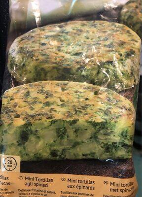 Mini tortillas de espinacaa