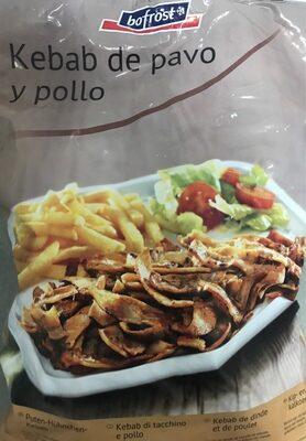 Kebab de pavo y pollo