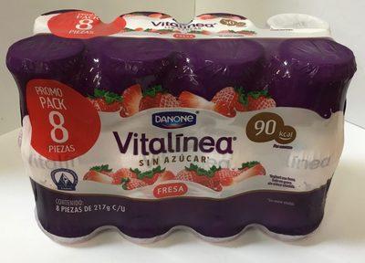 Vitalinea sin azucar Fresa 8 pack