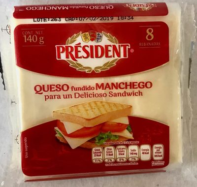 Queso fundido manchego Président